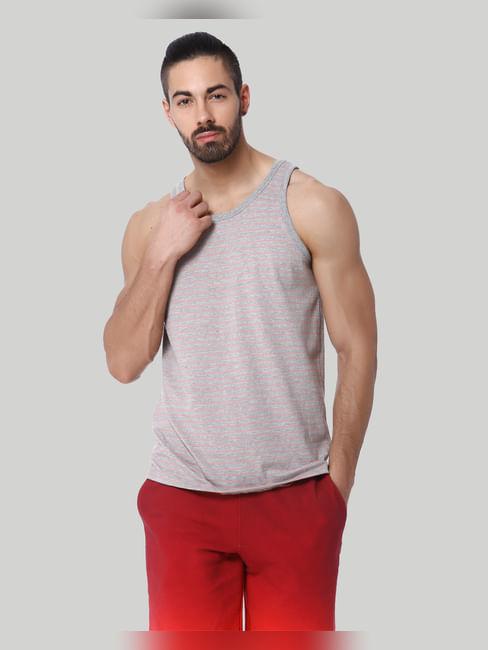 Pink Striped Fashion Vest