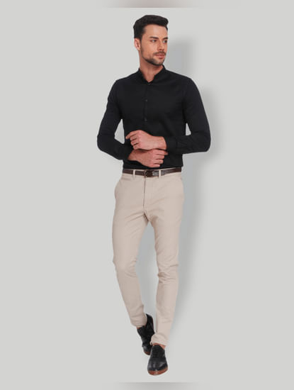 Beige Slim Fit Chinos