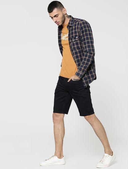 Blue Regular Fit Shorts