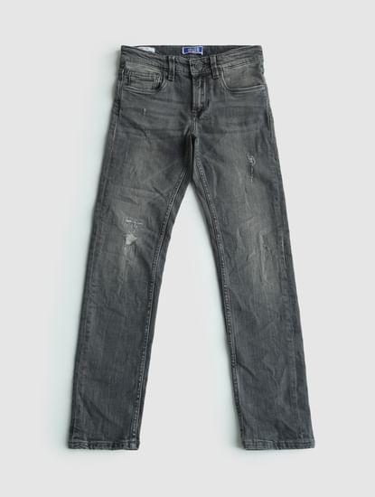 Junior Grey Low Rise Ben Slim Fit Jeans