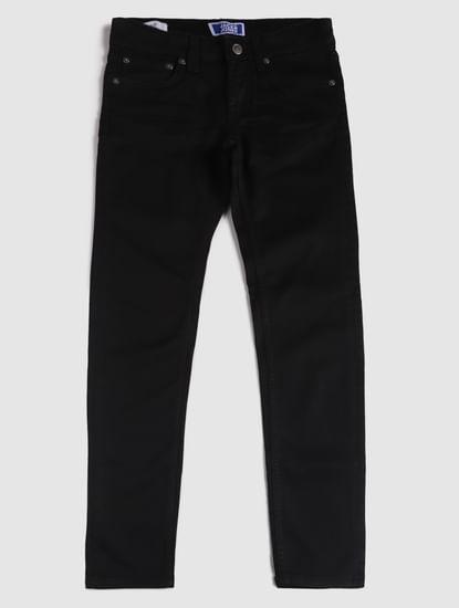 Junior Black Low Rise Glenn Slim Fit Jeans