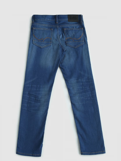 Junior Blue Low Rise Tim Slim Fit Jeans