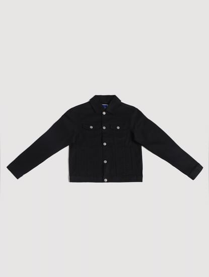 Junior Black Denim Jacket