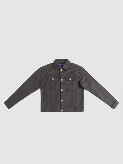 Junior Grey Denim Jacket