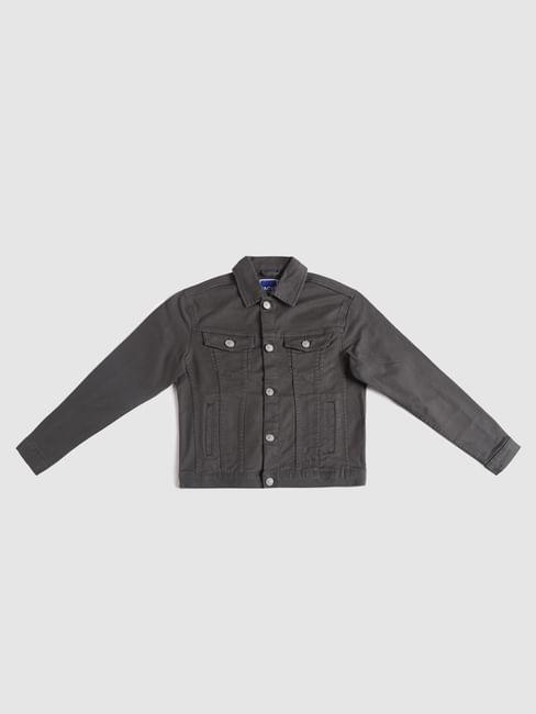 Junior Grey Denim Jacket