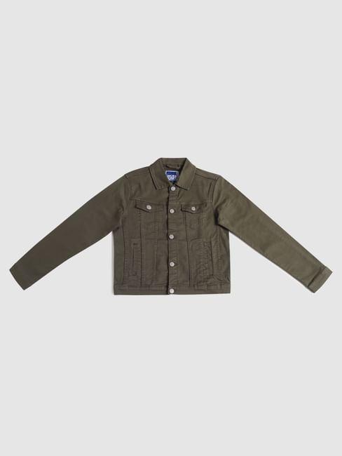 Junior Dark Green Denim Jacket