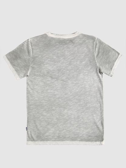 Junior Grey Logo Print Crew Neck T-Shirt