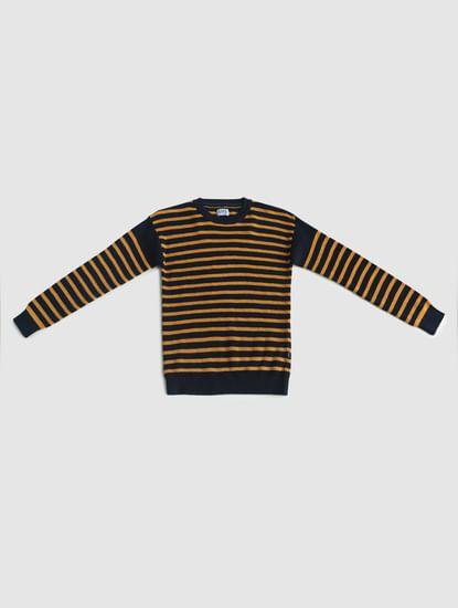 Junior Yellow Striped Pullover