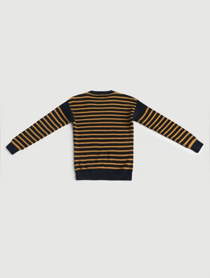Junior Yellow Striped Pullover