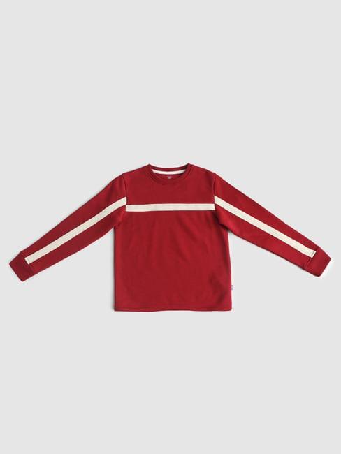 Boys Red Tape Detail Sweatshirt