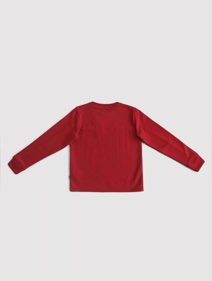 Junior Red Tape Detail Sweatshirt