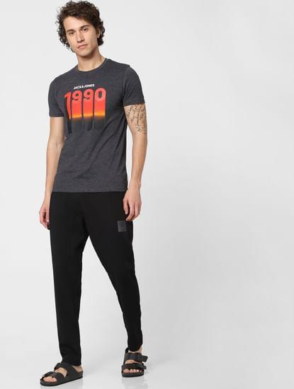 Black Mid Rise Drawstring Sweatpants