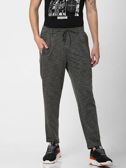 Green Mid Rise Printed Sweatpants