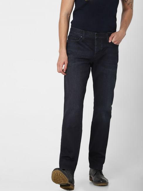 Blue Low Rise Clark Regular Fit Jeans