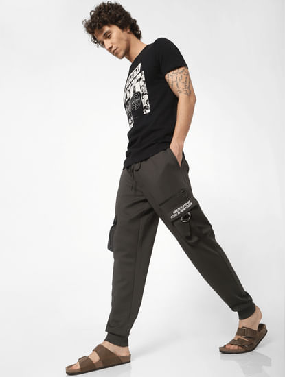 Green Low Rise Drawstring Sweatpants