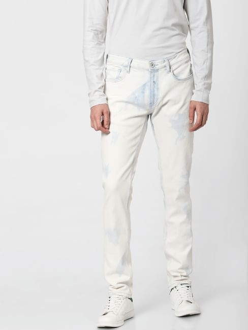 Blue Low Rose Heavily Washed Ben Skinny Jeans