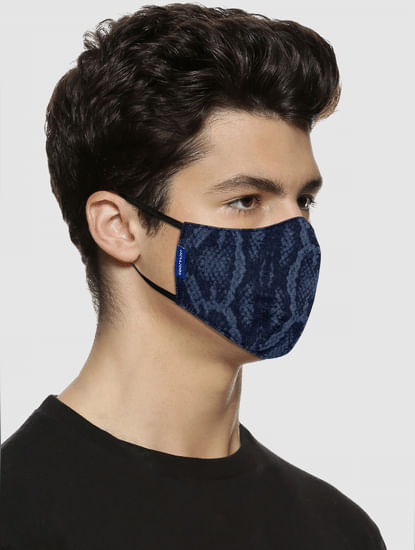 Pack of 2 Animal Print Lightweight Denim 3PLY Mask