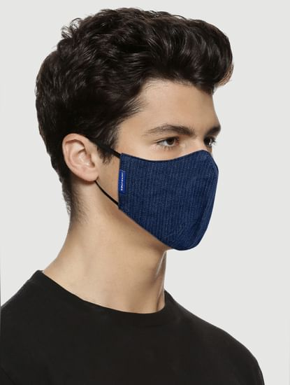 Pack of 2 All Over Print Lightweight Denim 3PLY Mask