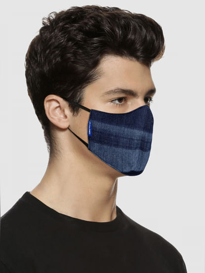 Pack of 2 Blue Lightweight Denim 3PLY Mask