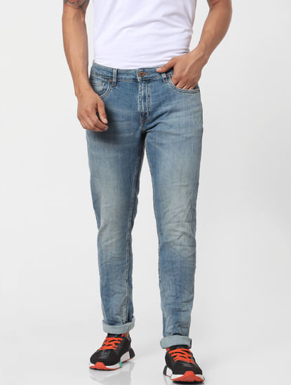 Light Blue Mid Rise Ben Skinny Fit Jeans