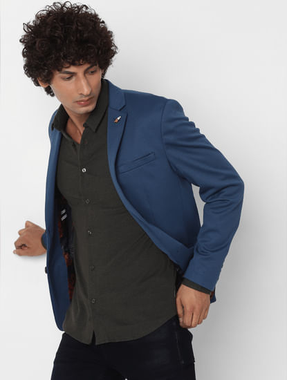 Green Full Sleeves Regular Fit Jersey Shirt