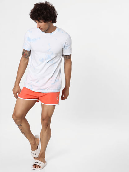 Coral Mid Rise Swimshorts