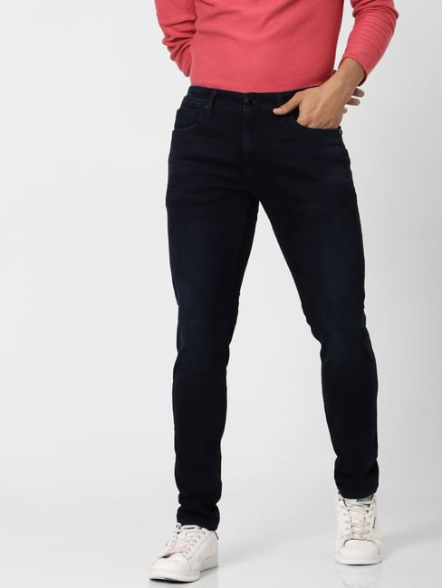 Black Mid Rise Liam Skinny Fit Jeans