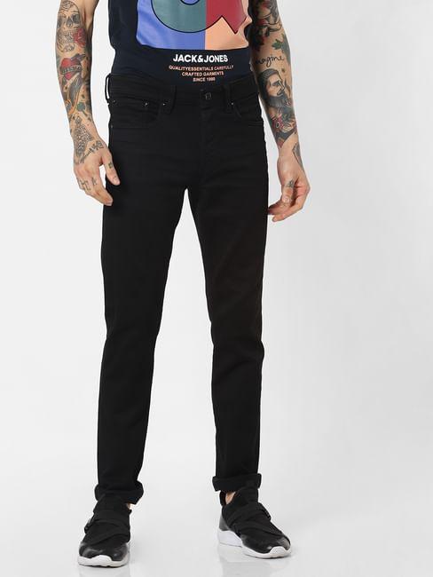Black Low Rise Glenn Slim Fit Jeans