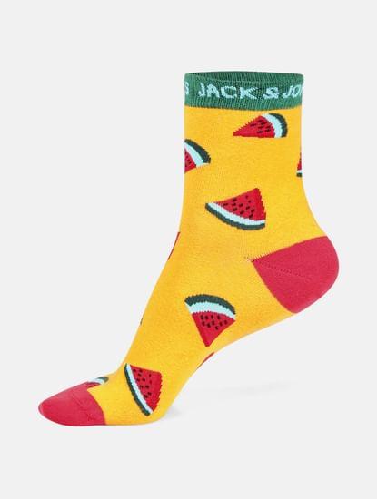 Yellow Mid Calf Length Socks