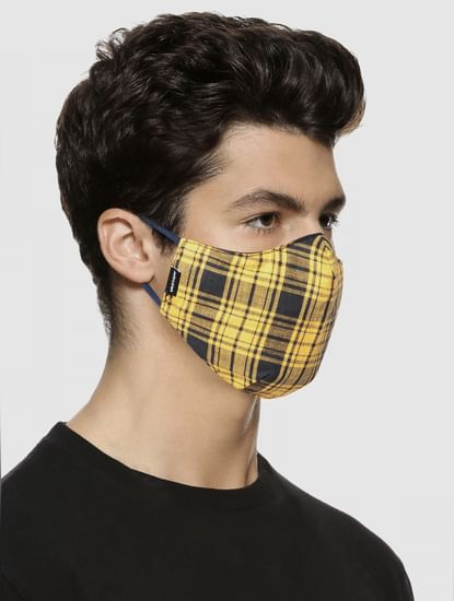 Pack of 3 Check Print 3PLY Mask