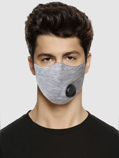 Pack of 2 Grey 3PLY Mask with Exhale Valve