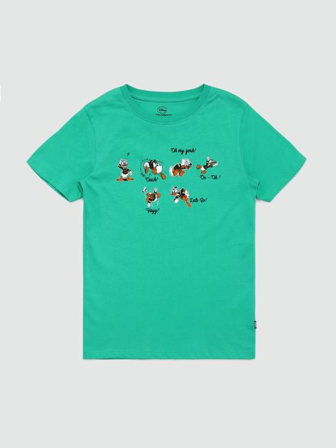 Boys X Donald Duck Green Donald Duck Print T-shirt