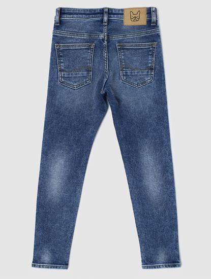 Junior Blue Low Rise Faded Liam Skinny Jeans