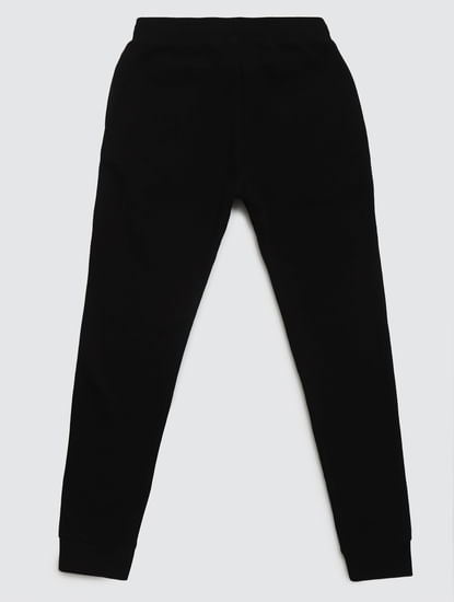 Junior Black Mid Rise Drawstring Sweatpants