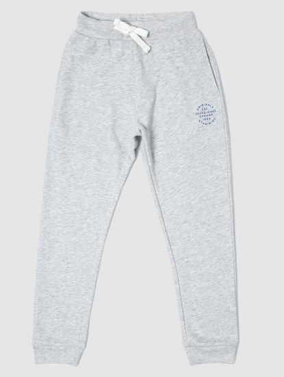 Junior Grey Mid Rise Drawstring Sweatpants