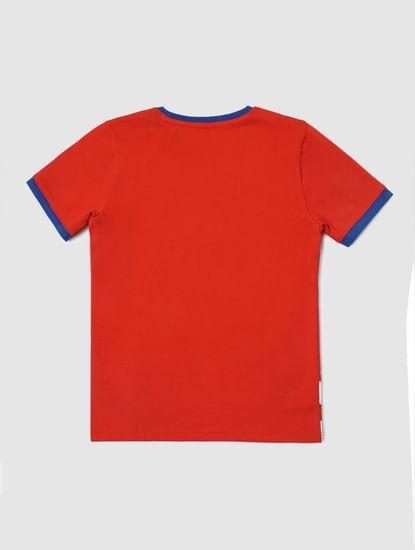 Junior X Marvel Red Avengers Print T-shirt