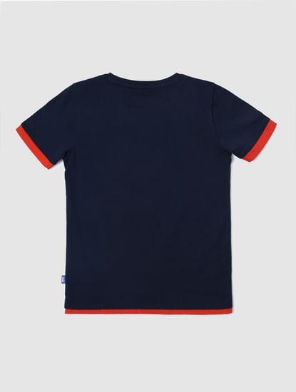 Junior X Marvel Navy Blue Spider Man Crew Neck T-shirt