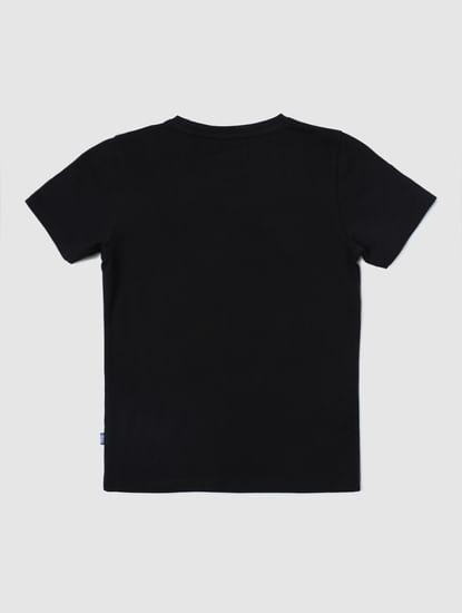 Junior X Marvel Black Spider Man Print T-shirt