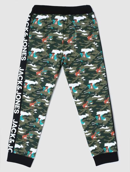 Junior Green Camo Print Sweatpants