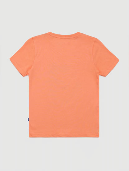 Junior Coral Graphic Print Crew Neck T-shirt