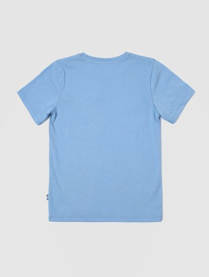 Boys Blue Graphic Print Crew Neck T-shirt