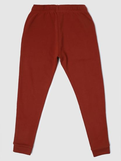 Junior Dark Brown Mid Rise Sweatpants