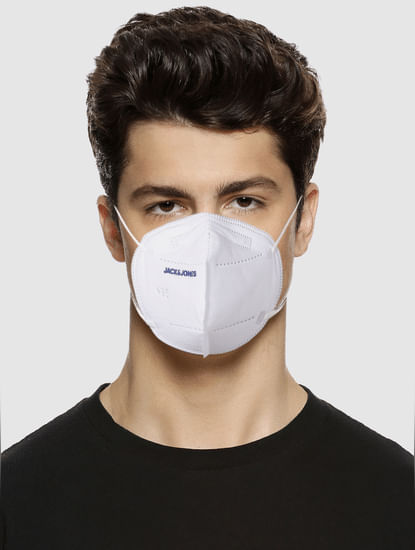 Pack of 5 White Logo Print N95 Mask with PM2.5 Filter
