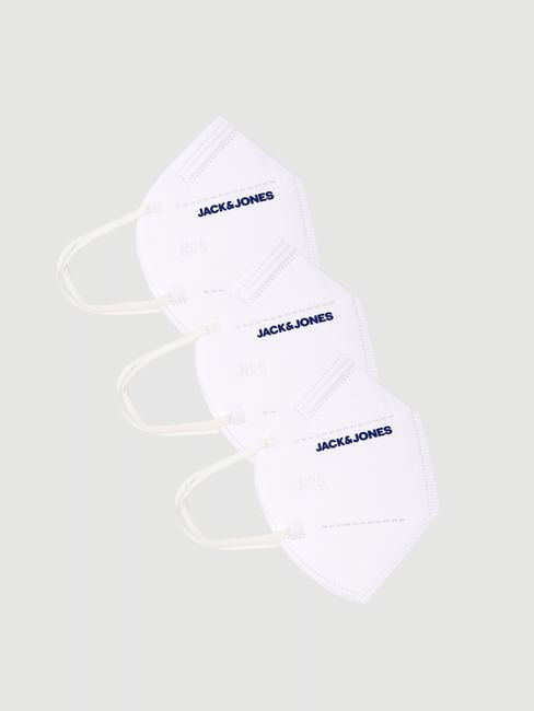 Pack of 3 White Logo Print N95 Mask with PM2.5 Filter