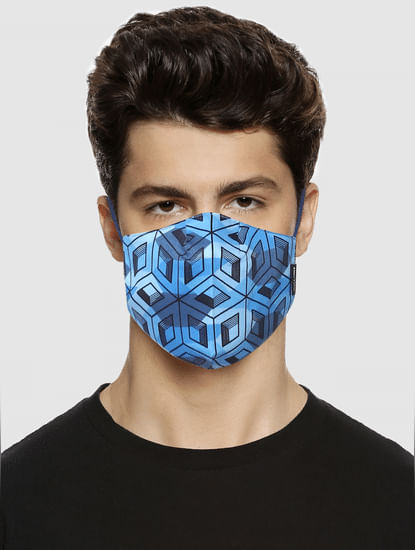 Pack of 3 Blue All Over Print B95 3PLY Mask