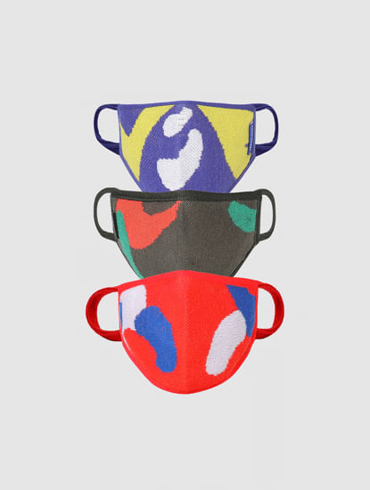 Junior Pack of 3 Colourblocked 3PLY Mask