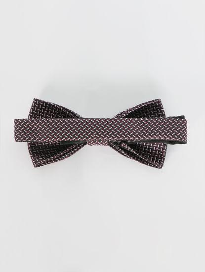 White Printed Bow Tie