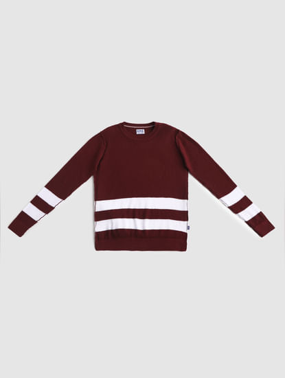 Junior Burgundy Pullover