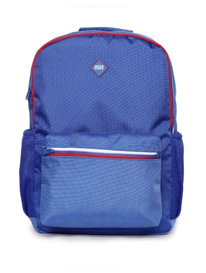 Blue Contrast Zipper Backpack
