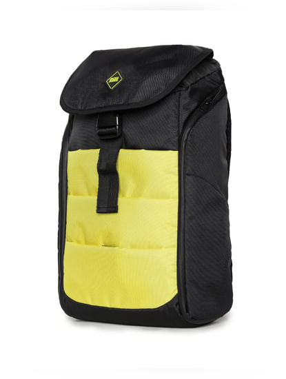 Yellow Colourblocked Backpack
